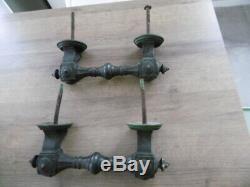 Ancienne paire de poignées de porte cochère en bronze XIX Napolèon III