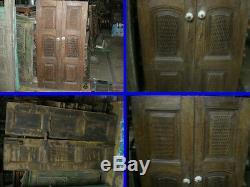 Ancienne paire de portes ou volets interieurs, Inde, N° 2 / 2