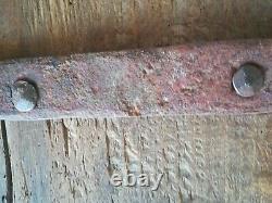 Ancienne petite porte en chêne élément d'architecture décoration