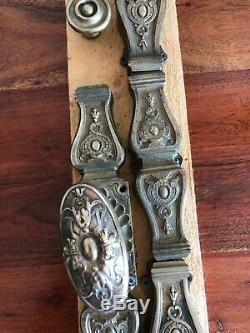 Ancienne poignée bronze crémone porte fenetre chateau maison maitre ST fin 19ie