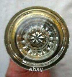 Ancienne poignée de porte Napoléon III, 2 boules en verre + 2 caches en laiton