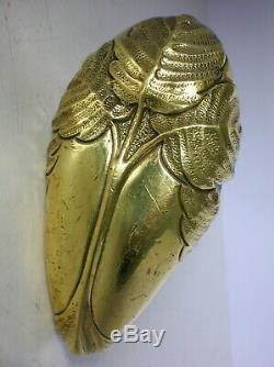 Ancienne poignée porte fenetre serrure bronze art nouveau hector guimard FT