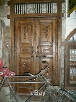 Ancienne porte Inde 121 x H241 cm