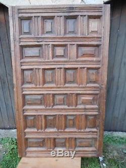 Ancienne porte à caissons panneau bois Espagne 17 18 ème