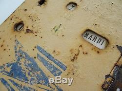 Ancienne porte boite aux lettres PTT LA POSTE french mail box FOUCHER thiery