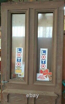 Ancienne porte d entrée en chêne / D ancien café, bistrot, Tabac. Commerce