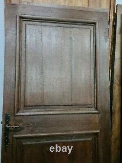 Ancienne porte de communication en chêne / 96 cms x 2 m 09 de haut