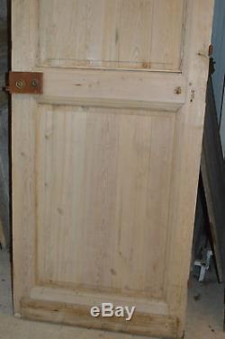 Ancienne porte en sapin / 2m37 de haut x 80 cms de large