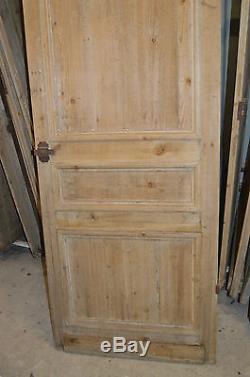 Ancienne porte en sapin / 2m55 de haut x 75 cms de large
