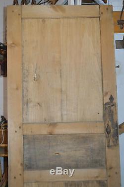 Ancienne porte en sapin et hêtre / 2m de haut x 80 de large