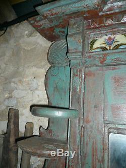 Ancienne porte indienne 108 x 131 cm