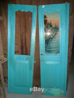Ancienne porte indienne 77 x 132cm