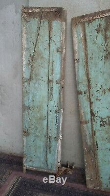 Ancienne porte indienne en Teck
