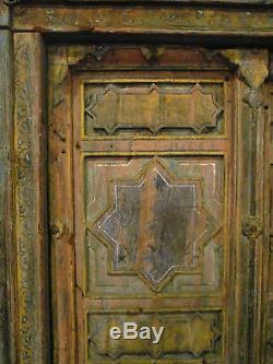 Ancienne porte indienne musulmane 101 x 178 cm