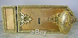 Ancienne serrure bronze et fer poignée porte fenetre chateau maison maitre ST