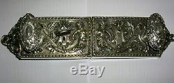 Ancienne serrure bronze poignée porte chateau maison maitre cherubins putti