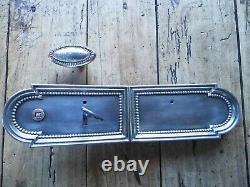 Ancienne serrure de chateau maison de maitre, bronze poignée de porte clé