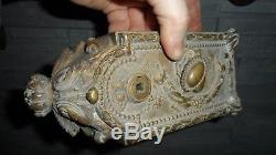 Ancienne serrure en bronze objet ancien déco loft maison maître
