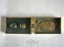 Ancienne serrure en bronze poignée porte fenetre deco chateau maison maitre FT