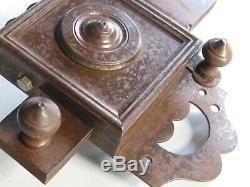 Ancienne serrure fer XIX avec clef fonctionne porte serrurerie château