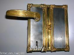Ancienne serrure fer et bronze poignée gache deco architecture chateau maison ST