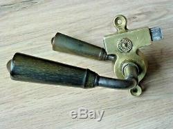 Ancienne serrure magasin type GOLLOT poignées en corne
