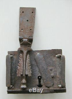 Ancienne serrure normande corps dragon zoomorphe