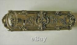 Ancienne serrure poignée gache bronze deco architecture chateau maison maitre ST