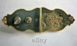 Ancienne serrure poignée porte gache bronze doré maison maitre offre directe