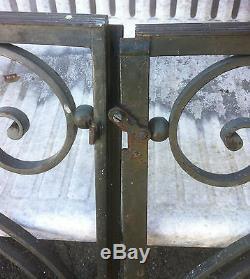 Anciennes Portes Grilles Interieur Fer Forge Et Laiton Annees 30