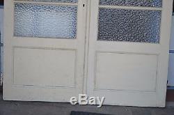 Anciennes Portes Vitrees En Sapin 163 Cms De Large X 211 Cms De Haut