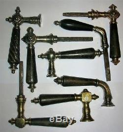 Anciennes poignees corne porte fenetre serrure bronze chateau maison deco