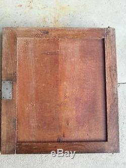 Antique Pair French 19th Architectural Salvage Carved Wood Door
