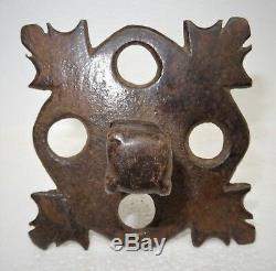 Antique clou de porte d'édifice en fer forgé 17 18ème