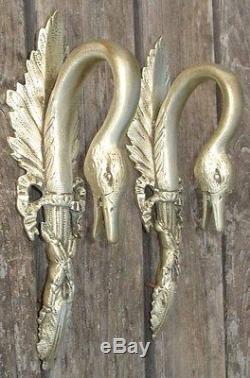 -Architectural Anses Col de Cygne Empire en Bronze