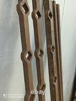 Barres de grilles de défense en fer forgé 18 éme