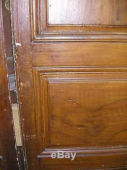 Belle Façade de Placard 2 Vantaux Bois Peint traverse haute chantournée 3 fiches