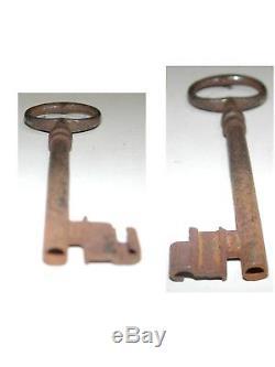 Belle serrure Maître serviteur fin XVIIIème une seule clé présente