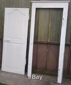 Boiserie / Ancienne Porte, Avec Cadre. En Chene. D Epoque