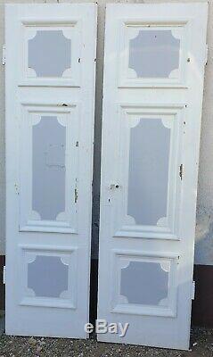 Boiserie, Paire de porte de communication, Double face en Chêne D époque louis XIV