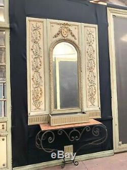 Boiserie de style Louis XVI en bois patiné Portes de séparation XIX siècle