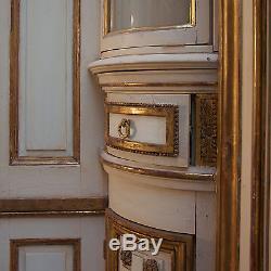 Boiserie louis XVI en bois laqué et doré, XVIIIe