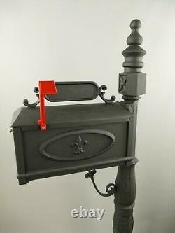 Boîte aux Lettres Aluminium Fonte Noir Hauteur 159x70cm Nostalgie & Neuf Le