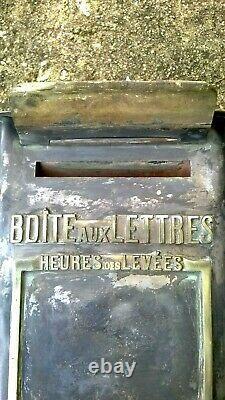 Boite lettre foucher PTT briefkasten train SNCF industriel vintage facteur post
