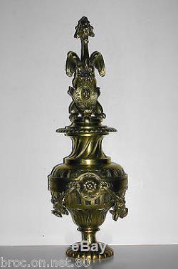 Boule escalier vase de rampe bronze chateau maison maitre chimere