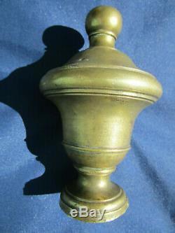 Boule pilastre rampe escalier laiton ancienne hauteur 14,5 cm