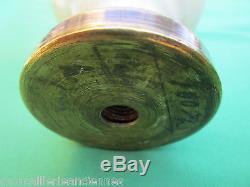 Boule rampe pilastre escalier fonte émaillée crème ancienne diamètre 10 cm