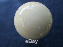 Boule rampe pilastre escalier porcelaine crème ancienne diamètre 10 cm