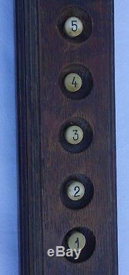 Boutons ascenseur 1900 / Antique Élévateur PUSH BUTTON /Commande bois déco indus