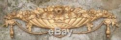 Bronze Corniche d'ornementation 1930 Art Deco Corbeille Fleurie